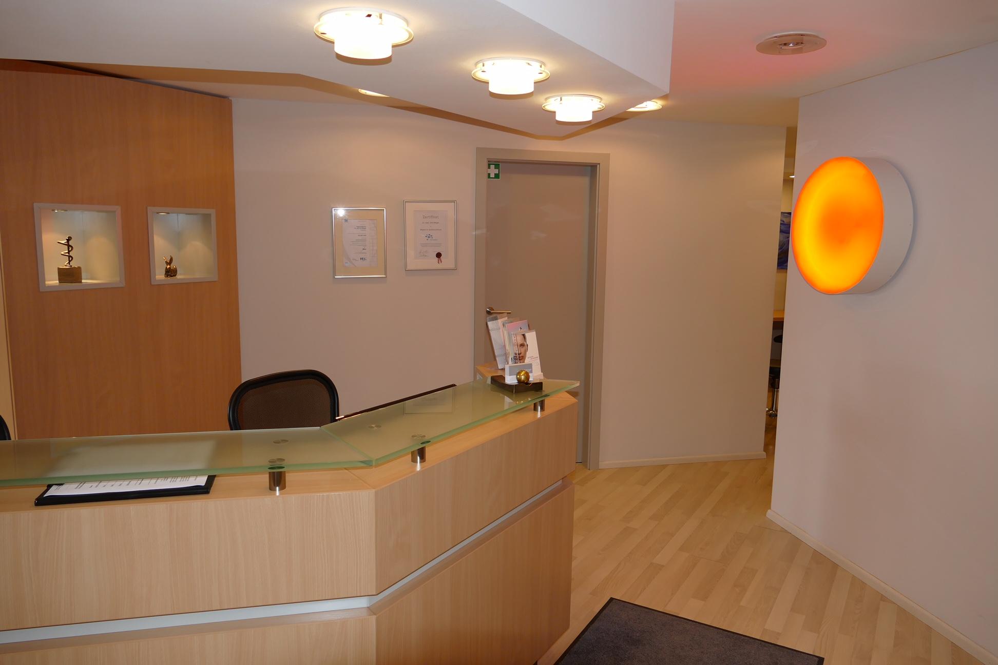 Empfang Augenarztpraxis Innenstadt